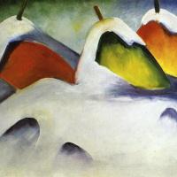 Franz Marc. Haystacks in the snow