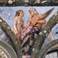 Venus and Jupiter. Fresco the loggia of psyche, Villa Farnesina, Rome