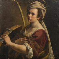Автопортрет в образе святой Екатерины