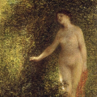 Анри Фантен-Латур. Голая женщина в лесу