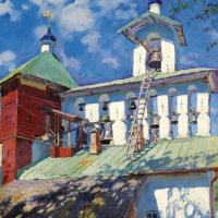 Сергей Арсеньевич Виноградов. Звонница Псково-Печерского монастыря
