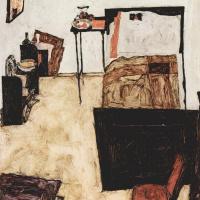 Спальня Шиле в Нойленгбахе