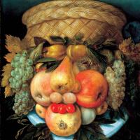 Джузеппе Арчимбольдо. Портрет (Натюрморт с корзиной и фруктами)