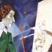 Марк Захарович Шагал. Автопортрет с палитрой