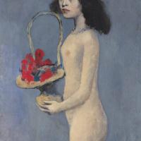 Пабло Пикассо. Девочка с цветочной корзиной