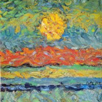 Landscape with the sun