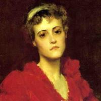 William Merritt Chase. Red dress