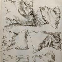 """Шесть этюдов подушек (обратная сторона """"Автопортрета с этюдами руки и подушки"""")"""
