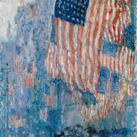 """Чайльд Гассам. Авеню в дождь (серия """"Флаги"""")"""