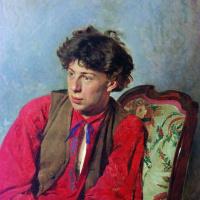 Портрет В.Е. Репина, брата художника, впоследствии музыканта
