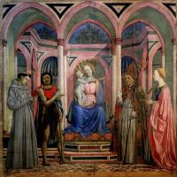 Доменико Венециано. Мадонна с Младенцем и святыми