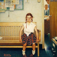 Norman Rockwell. Girl with black eye