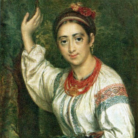 Василий Андреевич Тропинин. Украинка со сливами