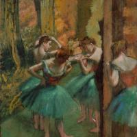 Эдгар Дега. Танцовщицы в зеленом и розовом
