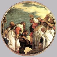 Паоло Веронезе. Люди приветствуют Св. Николая мирликийского