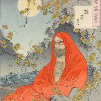 Цукиока Ёситоси. Луна, светящая через разрушенное окно
