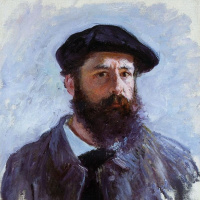 Monet self portrait in a beret