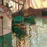 Egon Schiele. The Harbor in Trieste