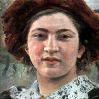 Ilya Efimovich Repin. Autumn bouquet. Portrait Of Vera Repina. Detail