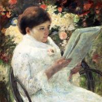 Мэри Кассат. Женщина читает в саду