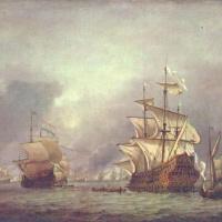 Виллем ван де Вельде Младший. Взятие в плен корабля во время четырёхдневного морского сражения 1666 г.