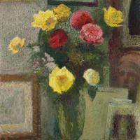 Cuno Amiè. A bouquet of roses in the Studio