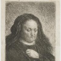 Рембрандт Харменс ван Рейн. Портрет матери с прижатой к груди рукой
