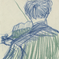 Винсент Ван Гог. Скрипач со спины