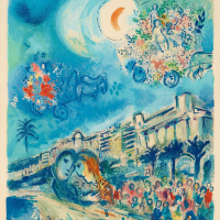 Марк Захарович Шагал. Битва цветов