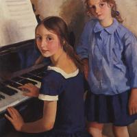 Zinaida Serebryakova. Girls at the piano