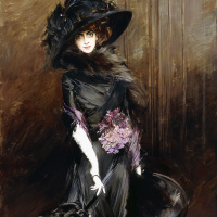Джованни Больдини. Портрет маркизы Луизы Казати с грейхаундом