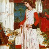 Уильям Моррис. Прекрасная Изольда (Портрет жены художника Джейн Моррис)