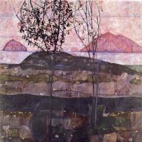 Egon Schiele. The setting sun