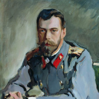 Valentin Aleksandrovich Serov. Portrait of Emperor Nicholas II (the Portrait of Nicholas II in the gray jacket)