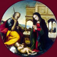 Мариотто Альбертинелли. Поклонение младенцу Христу