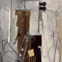 Пабло Пикассо. Кларнет и скрипка