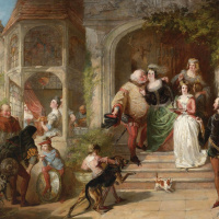 Scene from Shakespeare's comedy The Windsor mockers. Private collection