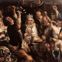 Король пьет