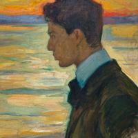 Портрет Бориса Пастернака на фоне Балтийского моря