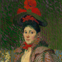 Портрет женщины в красной шляпе (Эмми)