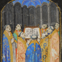 Unknown artist. Seven miniatures from a breviary