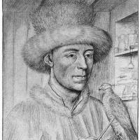 Петрус Кристус. Портрет мужчины с соколом
