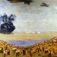 На Тушинском аэродроме. 1936-1938
