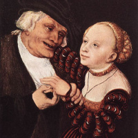 Лукас Кранах Старший. Старик и молодая женщина