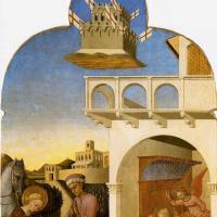 Сассетта. Святой Франциск и бедный рыцарь, и видение Франциска