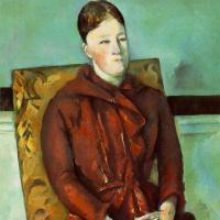 Поль Сезанн. Портрет Мадам Сезанн в жёлтом кресле