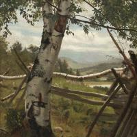 Иван Иванович Шишкин. Летний пейзаж с березой