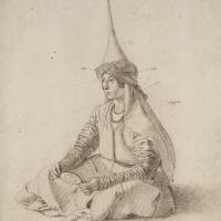 Портрет сидящей турчанки