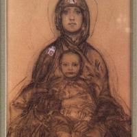 Михаил Александрович Врубель. Богородица с Младенцем (эскиз для иконостаса Кирилловской церкви в Киеве)