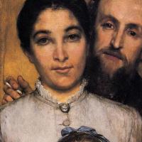 Портрет Жюля Далу, его жены и дочери